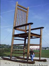 Giant Rocking Chair Franklin Indiana Roadside Attractions