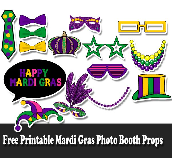 Free Printable Mardi Gras Photo Booth Props Mardi Gras Photos Photo Booth Props Free Photo Booth Props