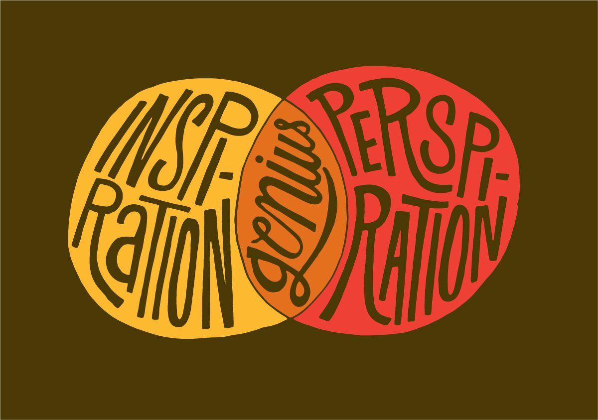 Inspiration - genius - perspiration