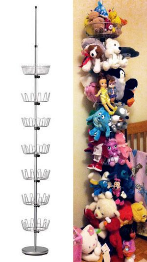 A Floor To Ceiling Shoe Tree Used As Storage For All Those Pesky