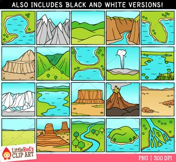 Landforms Clip Art  Homeschool Teaching Science And Geography