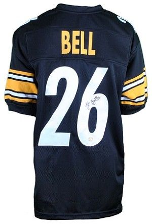 Share what you love about TSE!  Le'Veon Bell Autographed Pittsburgh Steelers Black #26 Custom Jersey