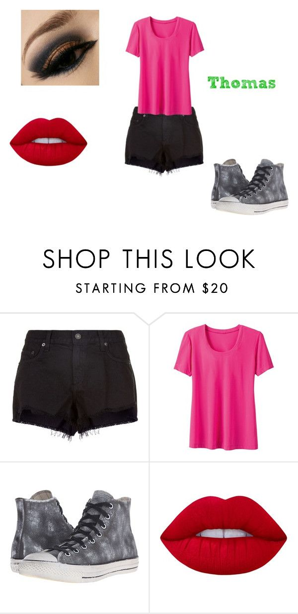 """Thomas 7"" by shadow-killer-101 on Polyvore featuring rag & bone, Converse, Lime Crime and plus size clothing"