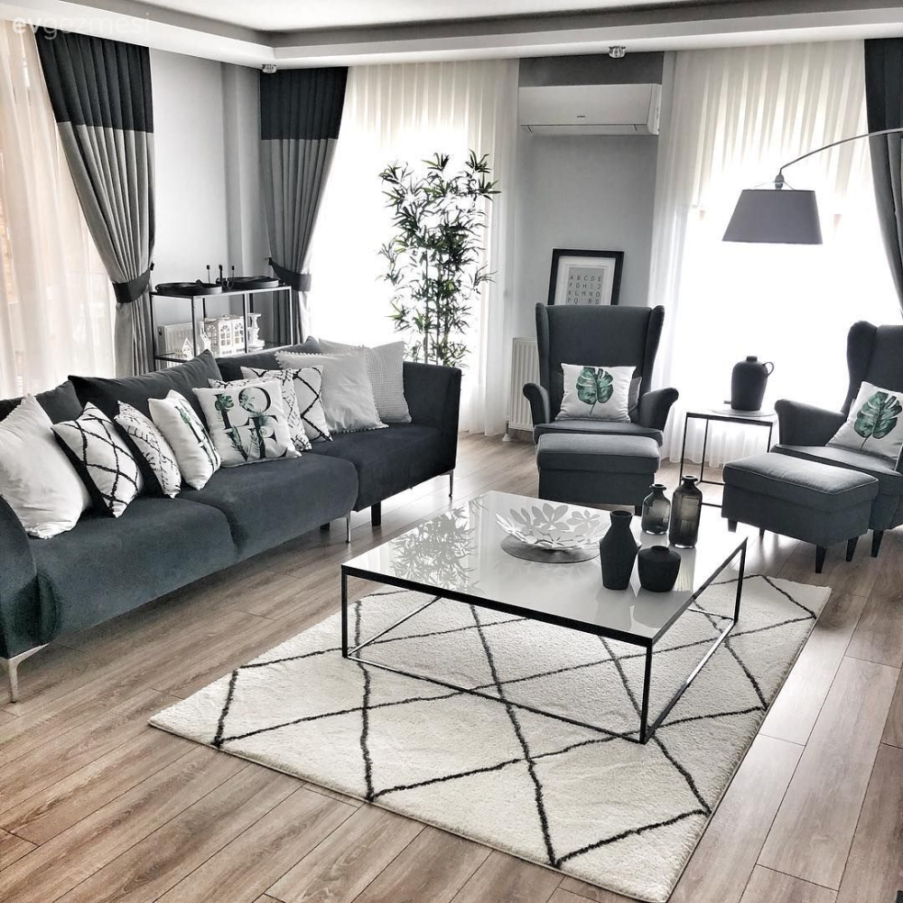 One Side Of This Duplex House Is Calm The Other Side Is Warm House Trip Living Room Modern Gray W In 2020 Elegant Living Room Design Living Room Decor Sofa Set