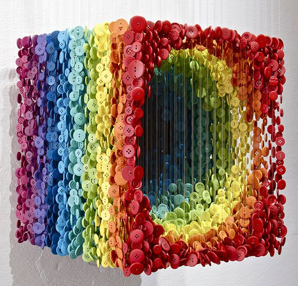 Astonishing 3D Sculptures made of Sewing Buttons | Just Imagine – Daily Dose of Creativity