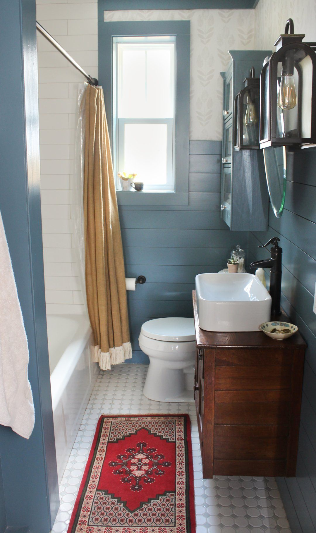 Fresh Country Bath Before Amp After Blue Bathroom Interior
