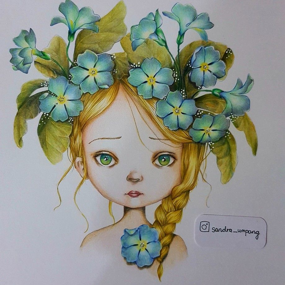 Coloriage Wild By Emmanuelle Colin Coloured Using Polychromos With Signo White Pen Art Drawings Simple Cute Art Grayscale Coloring