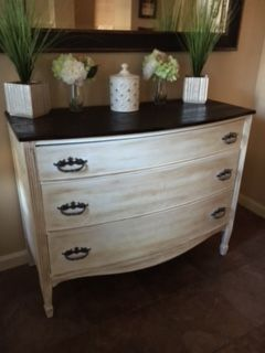 Mahogany Dresser Refinished With Chalk Paint Waxed Antique