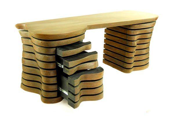 Wavy Desk Unique Desks Office Desk Designs Contemporary Desk
