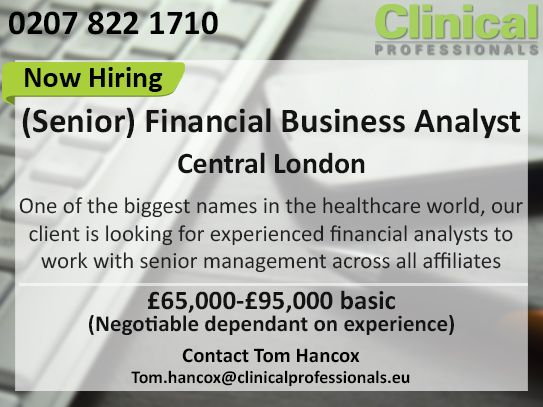 Our Client Is Looking For Experienced Financial Analysts To Work
