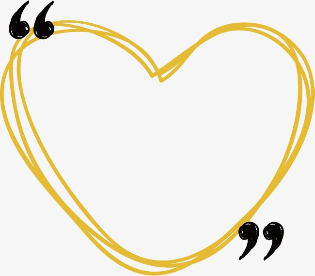 Yellow Line Love Border Vector Png Love Heart Of Love Png And Vector Love Png Background Design Borders And Frames
