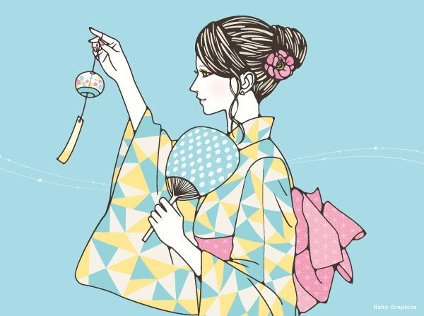 浴衣女性イラスト Illustration插畫 浴衣イラスト 浴衣 イラストの