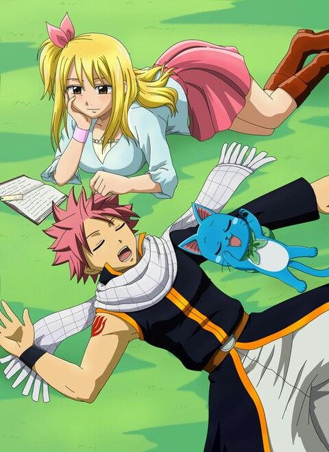 Lucy: he realy looks cute when natsu is sleeping | Fairy ...