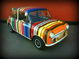 Cant get more colorful than this - mini cooper