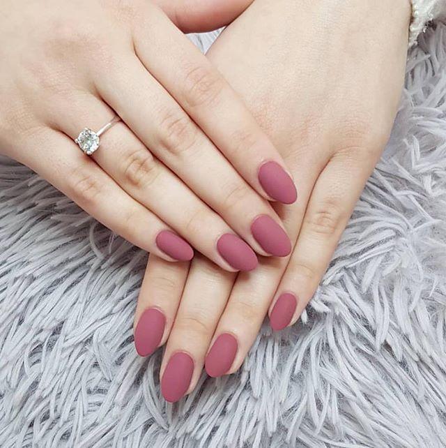 Mauve Matte Nail Design Nail Nails Nailart Beauty Pinterest
