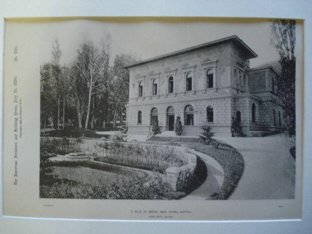 A Villa, Baden, near Vienna, Austria, EUR, 1890, Herr Roth
