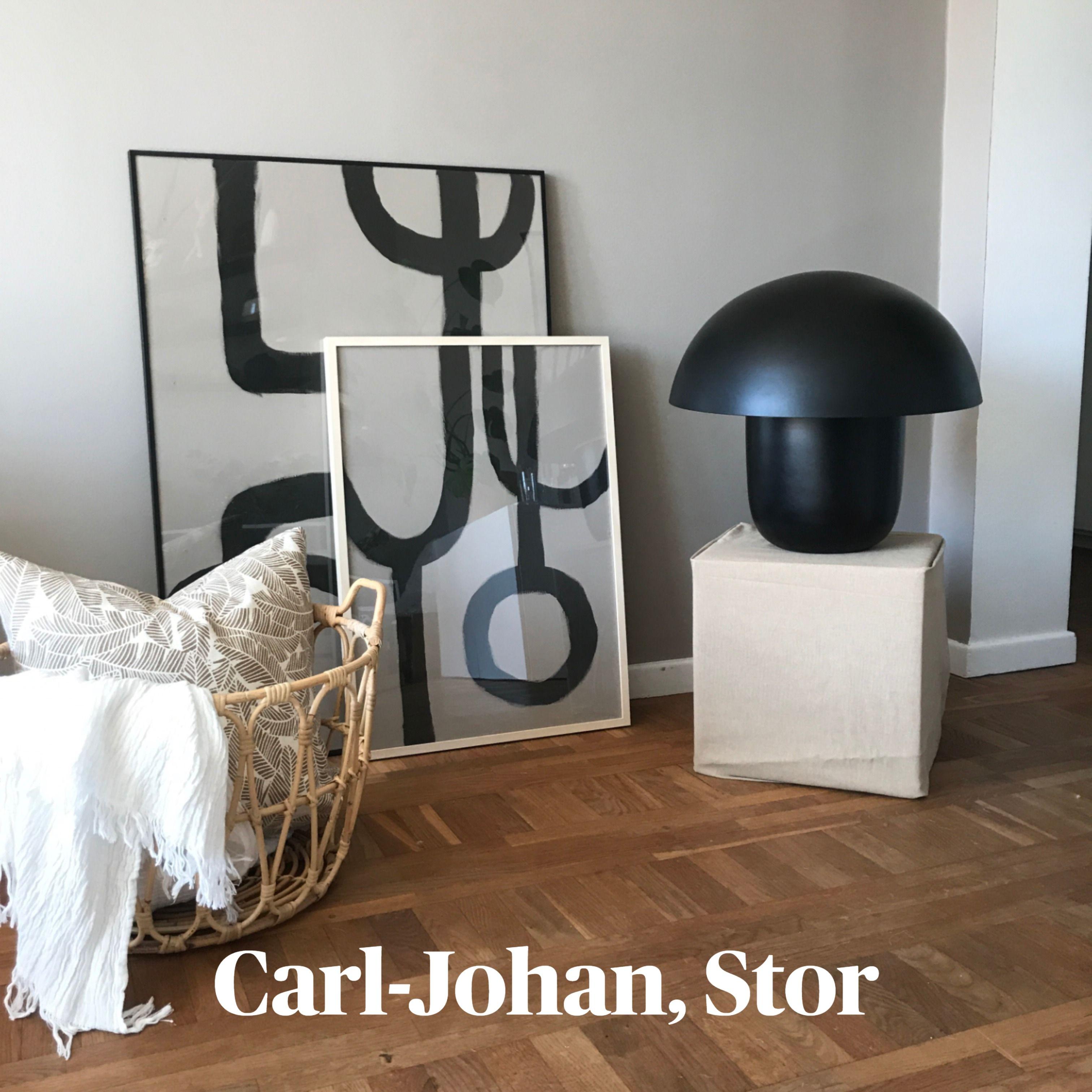 Stilrena Carl Johan Lampa i svampliknande design från