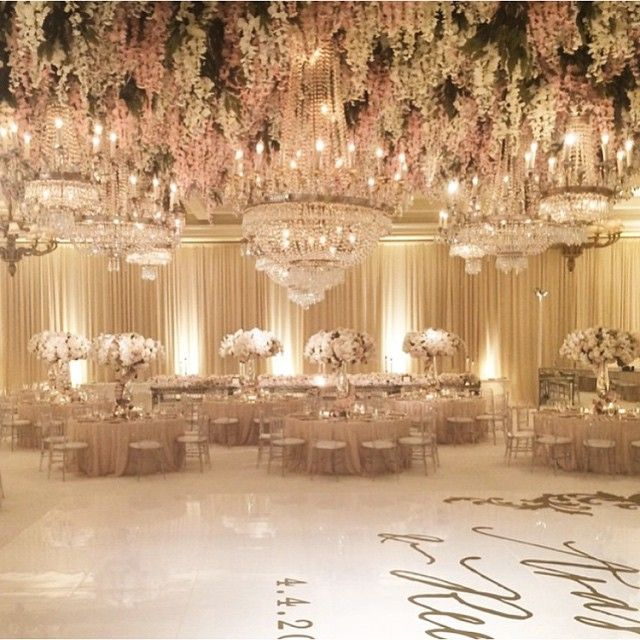 Evening Wedding Reception Decoration Ideas: Over-the-top Wedding Reception Decor By The Amazing White