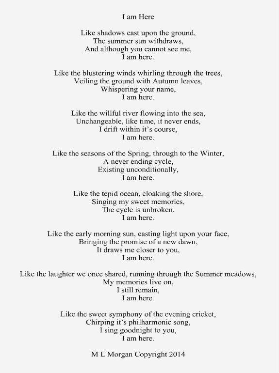 A poem about the soul or spirit, living after death Reincarnation - restaurant owner resume