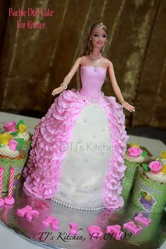 Related Image Barbie Cakes Pinterest Cake Cupcake Cakes And