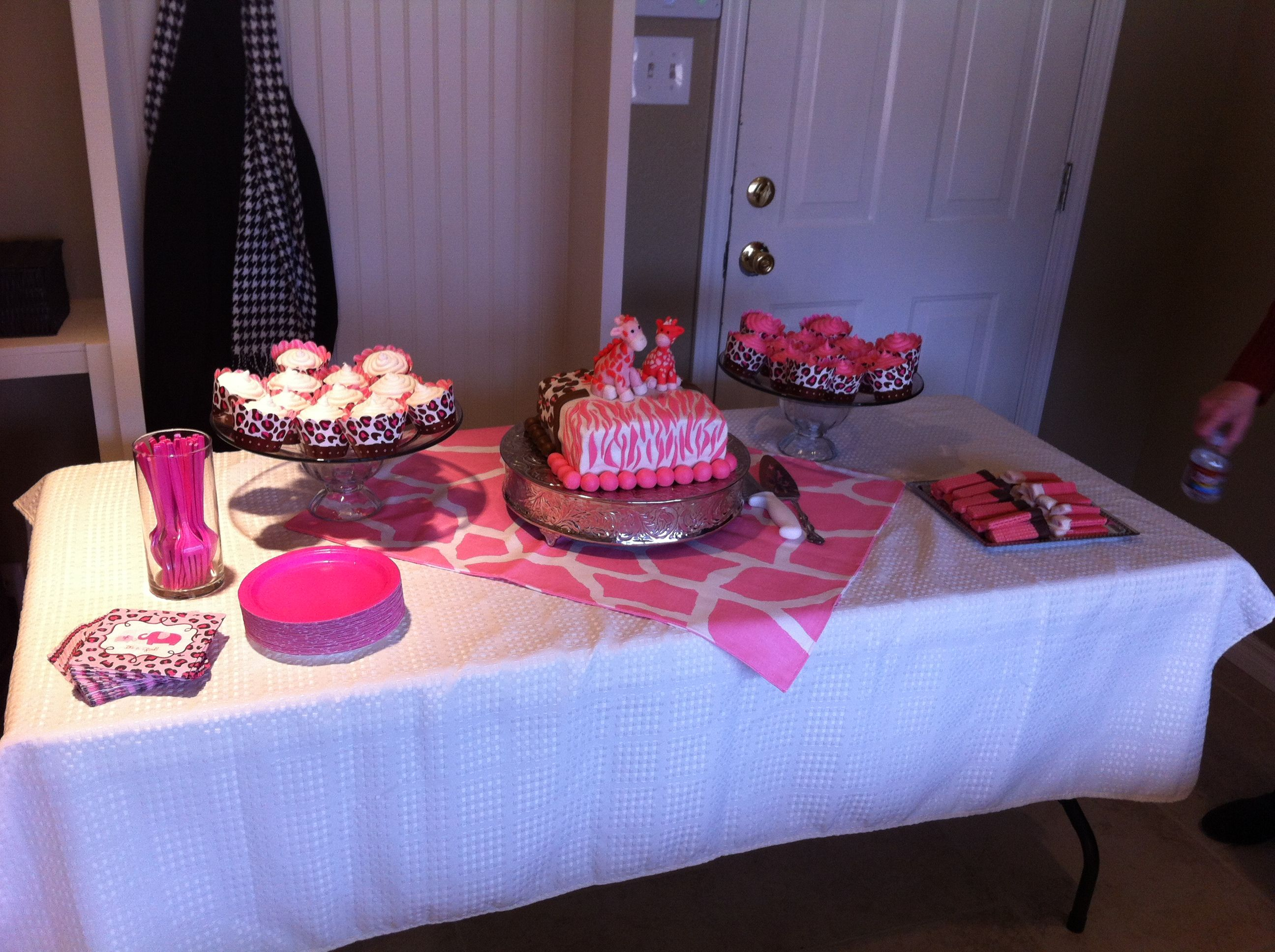 Delightful Pink Safari Baby Shower