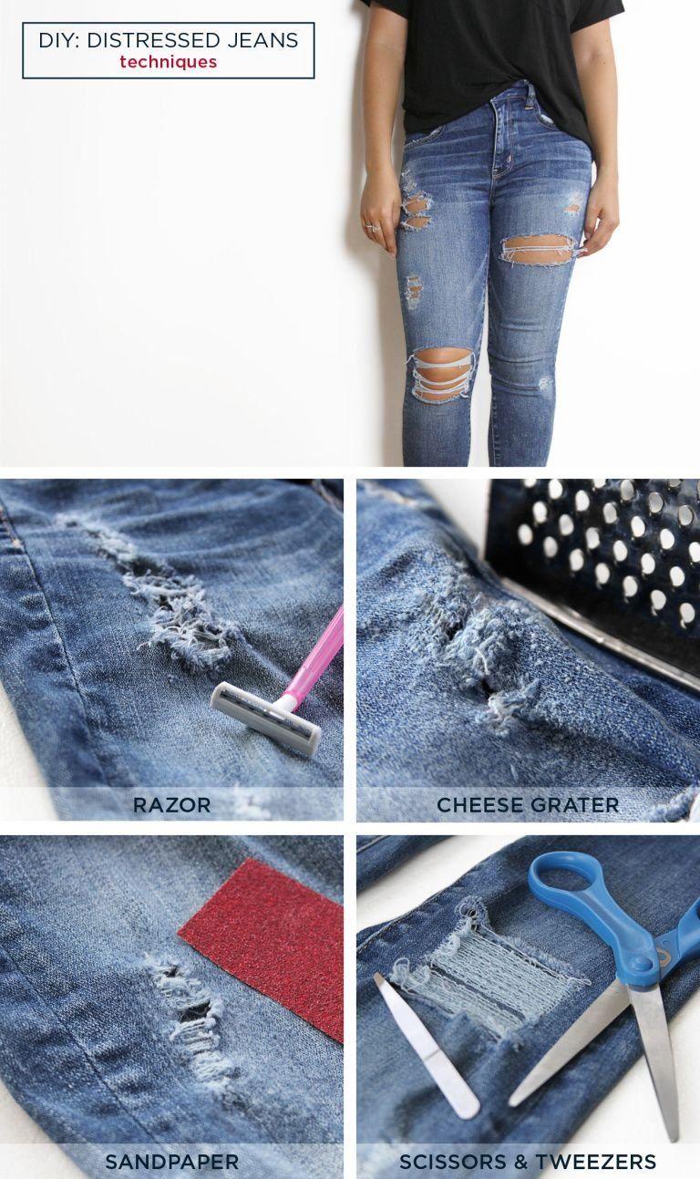 Diy distressed tshirt and jeans aexme 1000 diy