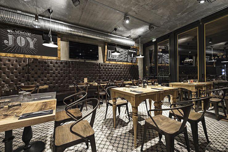 Rsultat de recherche dimages pour decoration restaurant type industriel  Bar et dco