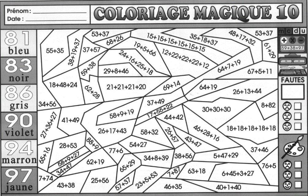 Coloriage Magique Ce2 Mdi Coloring Pages Free Printable Coloring Pages Kindergarten Kids