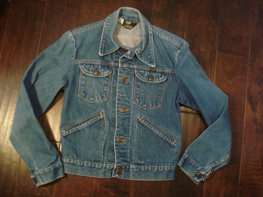 b2d5213c8 Vintage Wrangler Blue Bell Denim Blue Jean Maverick Jacket Made in ...