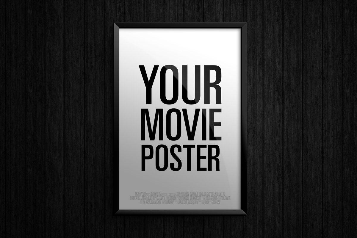 Theatrical Movie Poster Mockup Poster Mockup Postcard Mockup Graphic Design Templates