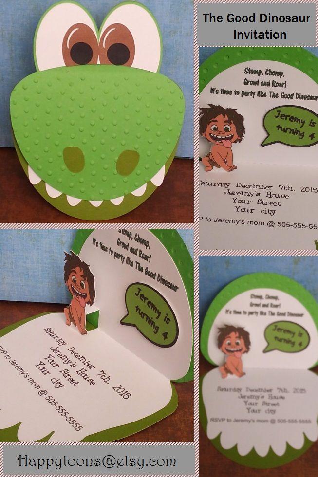 The good dinosaur birthday party invitation by happytoons@etsy                                                                                                                                                                                 Más