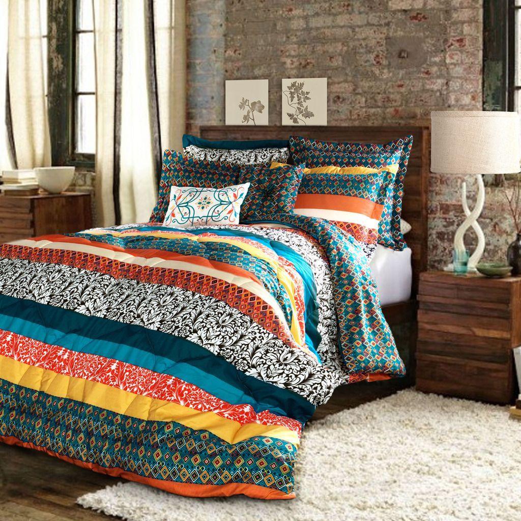 Lush Decor Boho Stripe Comforter Set Ping Great Deals On Sets
