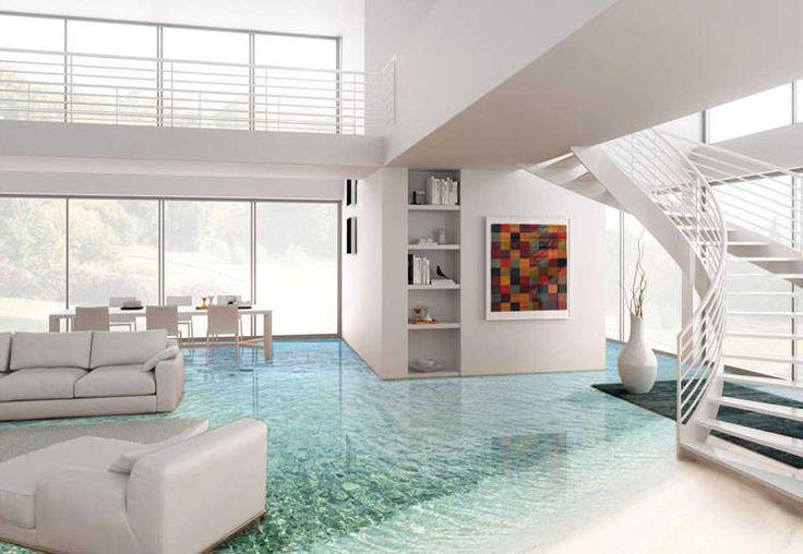30 spettacolari pavimenti 3d decorativi per interni for Personalizzare casa