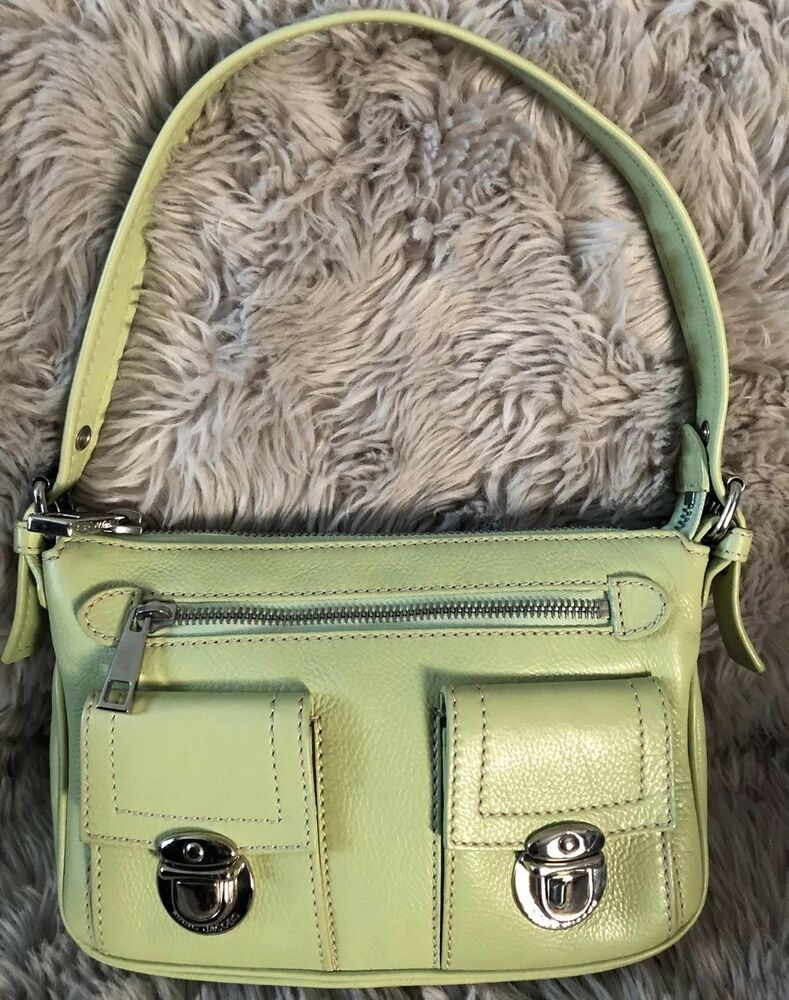 Marc Jacobs Women S Handbag Made In Italy Vintage Small Leather Tote Fashion Clothing Shoes Accessories W Leather Tote Women Handbags How To Make Handbags
