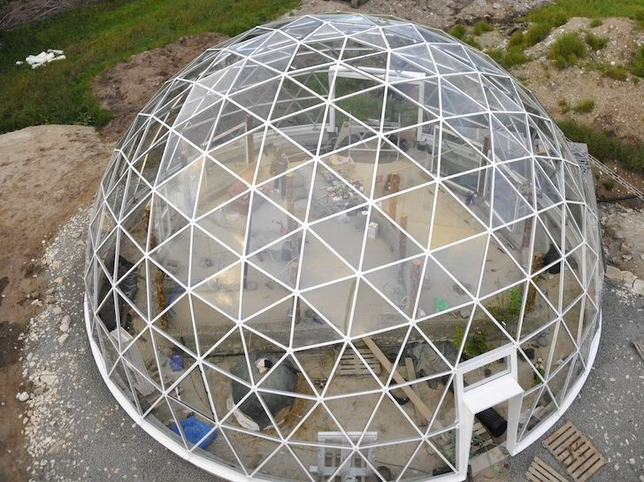 dome home designs. Solar Geodesic Dome Covered Cob House Rises in the Far Reaches of Norway