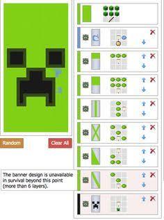 Resultado de imagen de minecraft recipes for banners