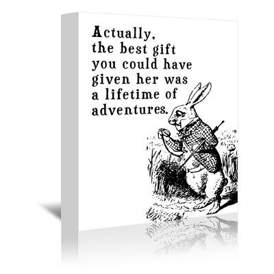 Americanflat Alice In Wonderland Rabbit by Tanya Shumkina Wrapped Canvas