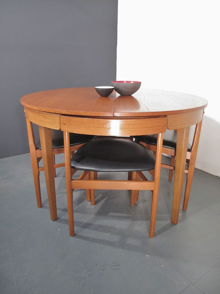 Vintage Nathan Dining Table Chairs Danish Retro Eames G Plan Frem Rojle In Antiques Antique Furniture Tables Ebay