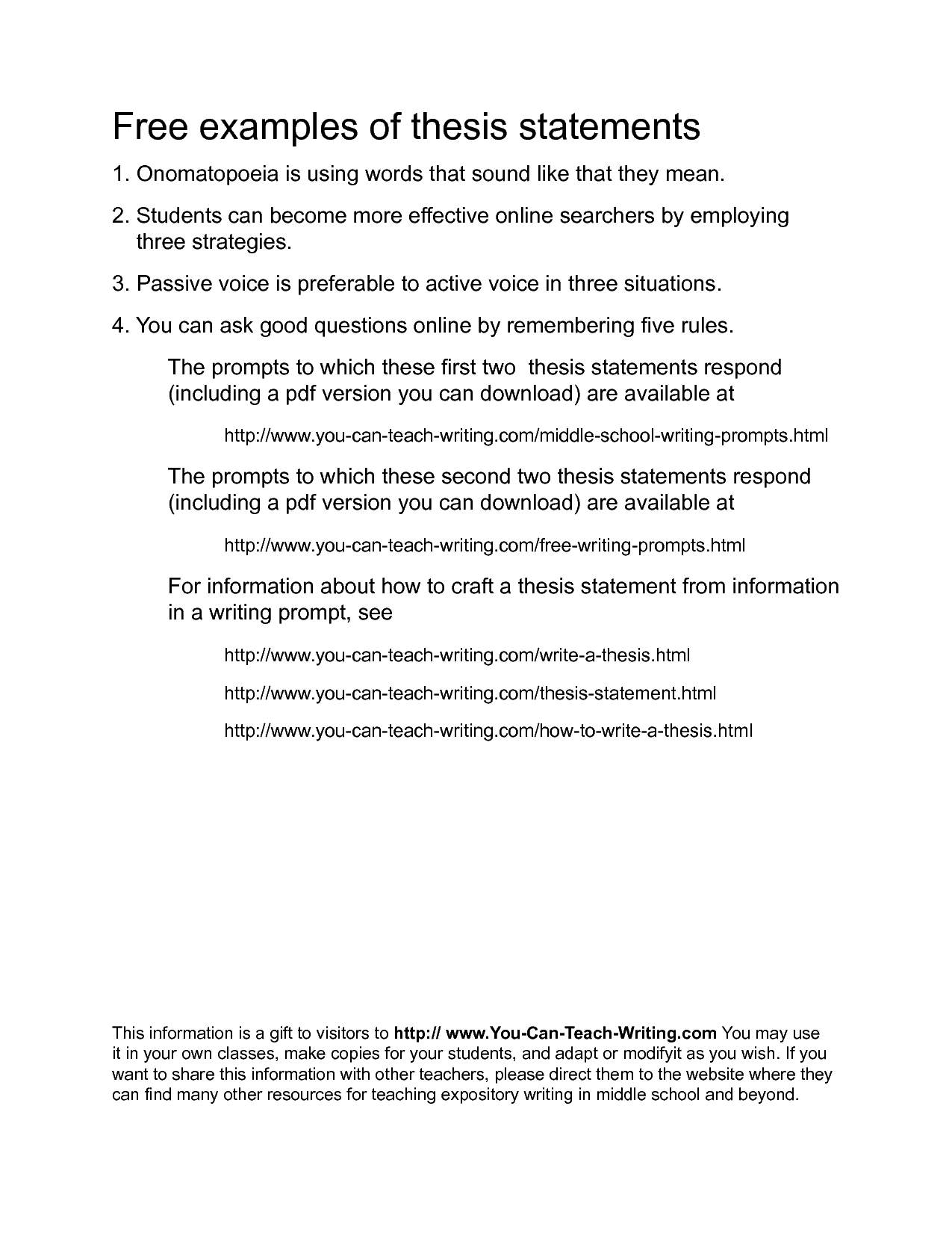 Purpose Of A Thesis Statement  Thesis    Educational