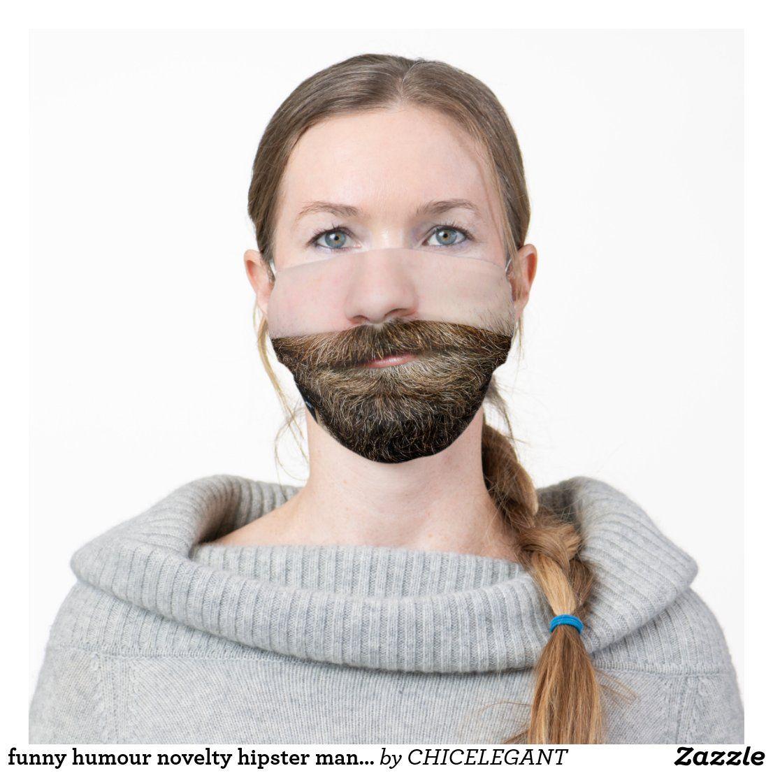 Funny humour novelty hipster man beard adult cloth