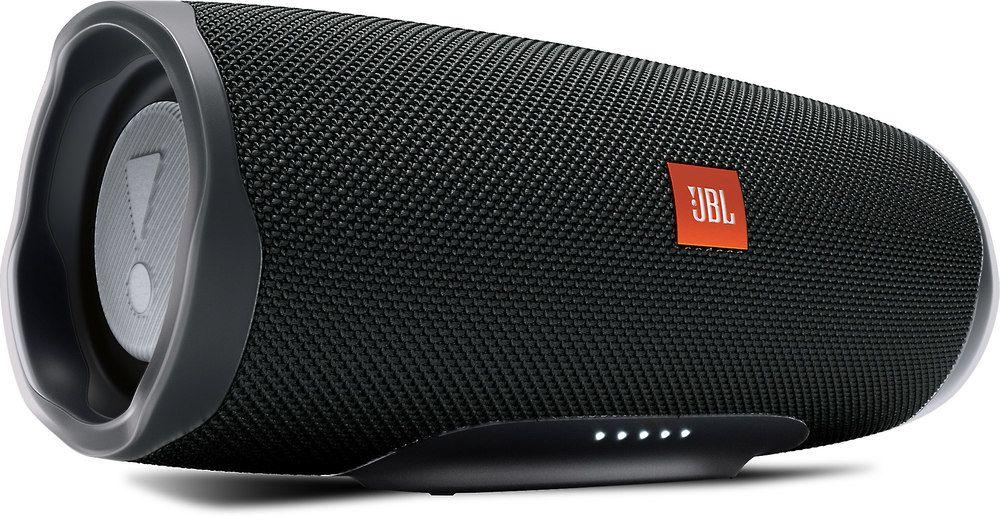 Jbl Charge 4 Midnight Black Waterproof Portable Bluetooth Speaker Bluetooth Speakers Portable Portable Speaker System Waterproof Bluetooth Speaker