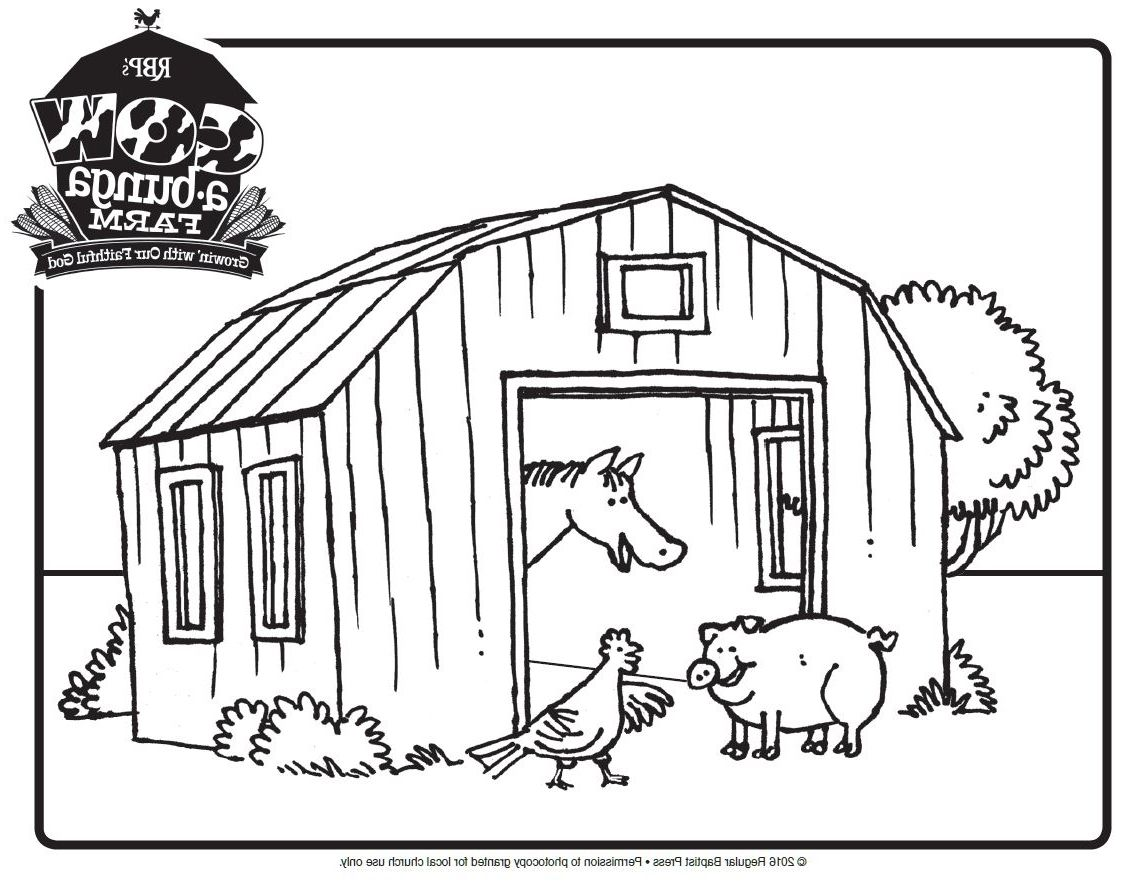 39+ Printable barn coloring pages information