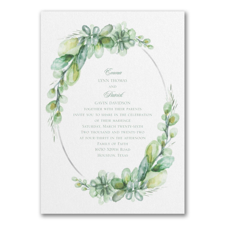 Wedding Venues Near Me Cheap: Watercolor Elegance - Double Thick Invitation