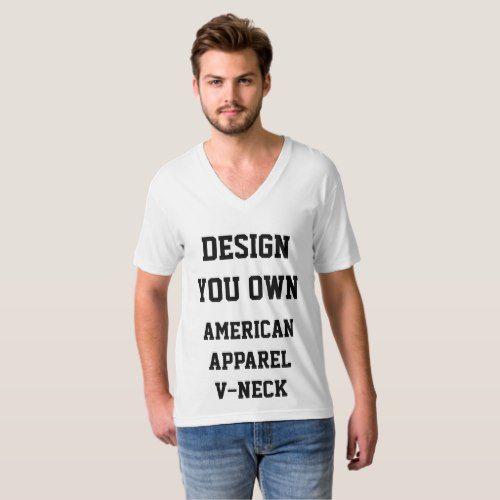 41868cf460c62 Custom Personalized Men's V-NECK T-SHIRT Template   Zazzle.com ...