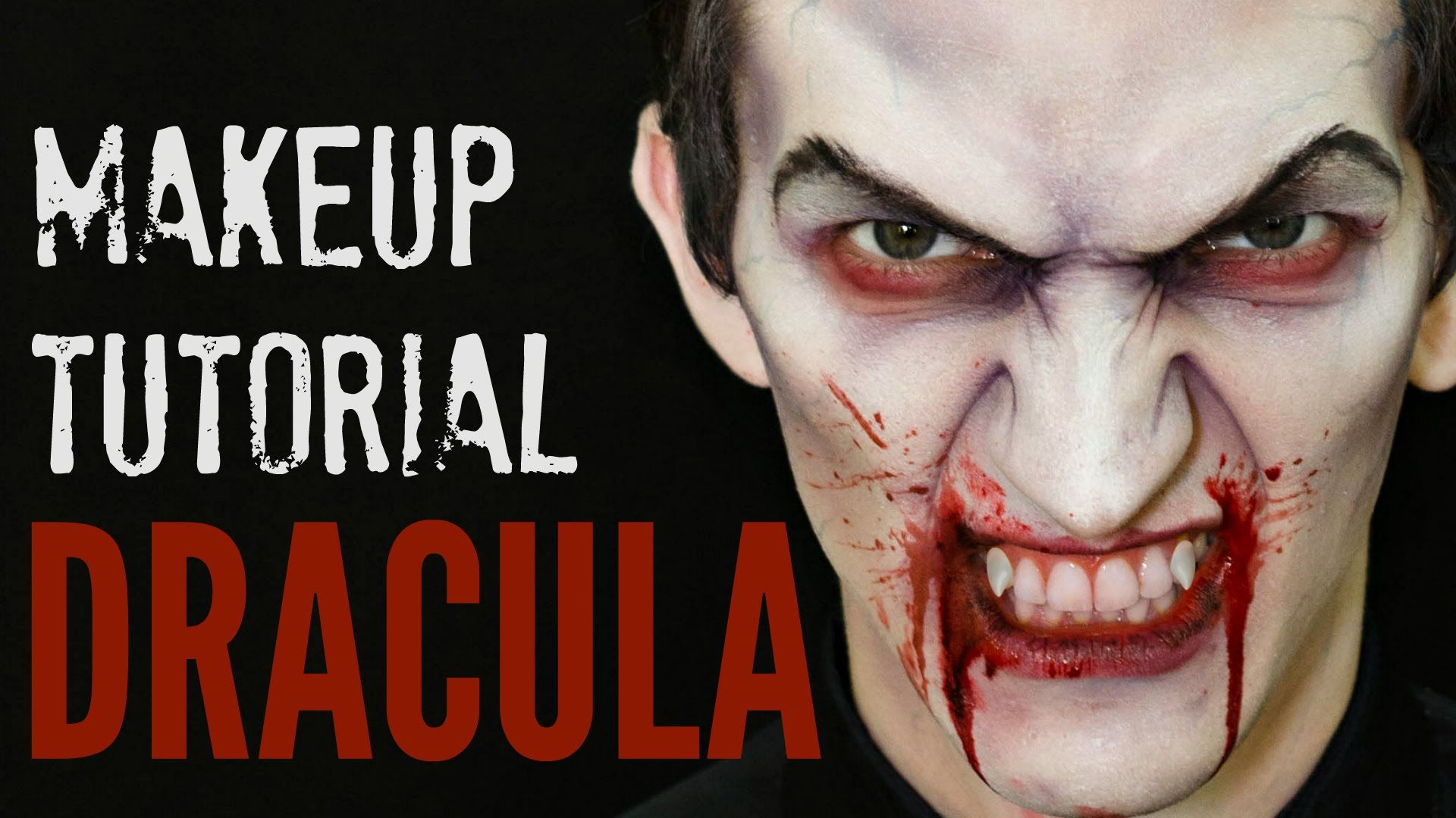 Dracula Halloween makeup tutorial for guys, for man, for