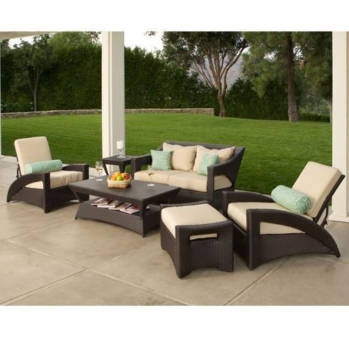 Pacific 6 Piece Patio Deep Seating Collection 1600 Includes Shipping