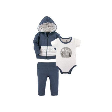 3PC Toddler Infant Boys Girls Outfits Hooded Vest+T-shirt+Pants Kids Clothes Set
