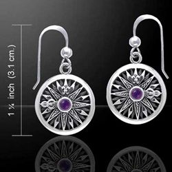 Celtic Knots Compass Silver Earrings