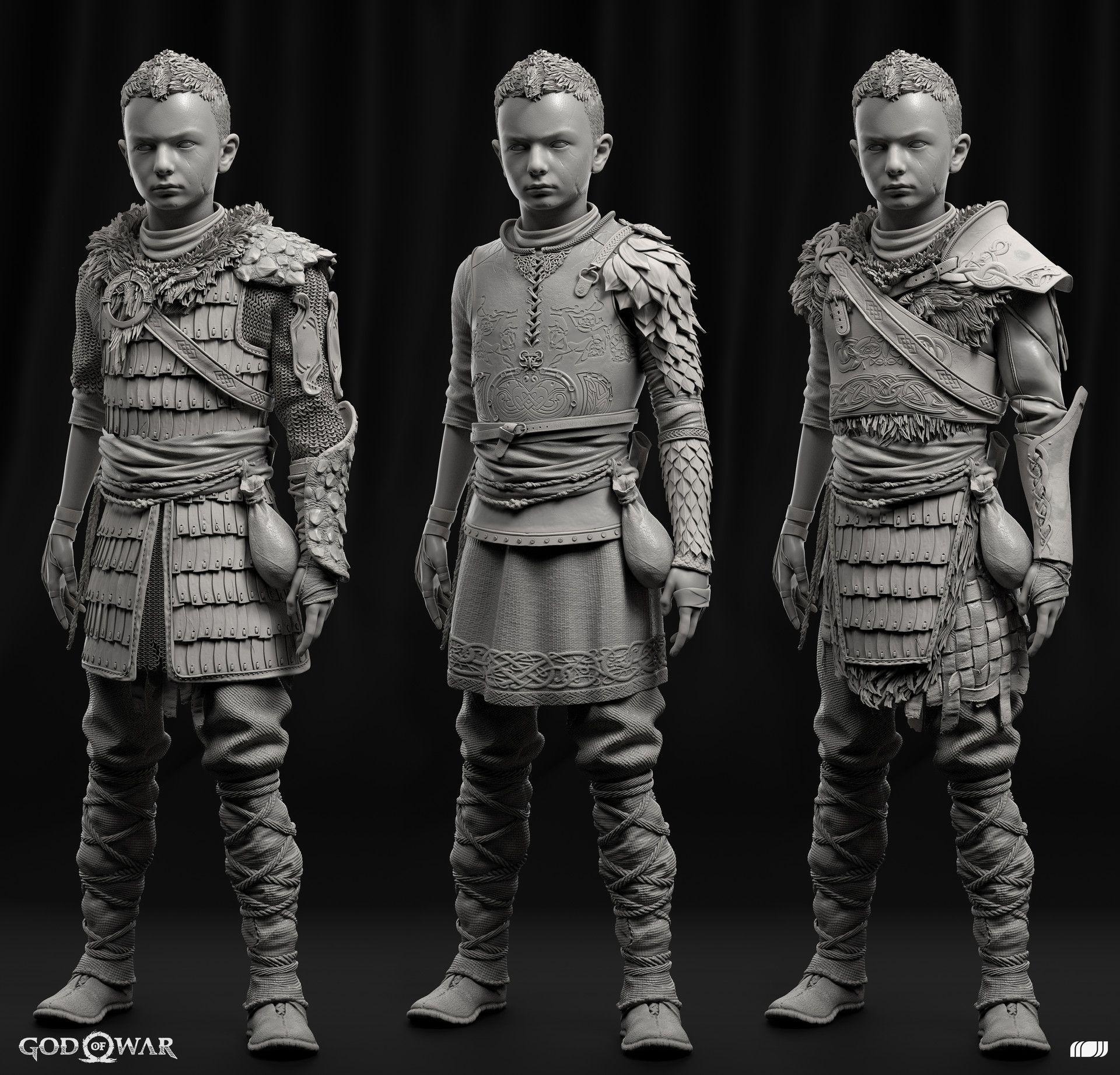 Artstation G O W Atreus Armor Igor Catto God Of War