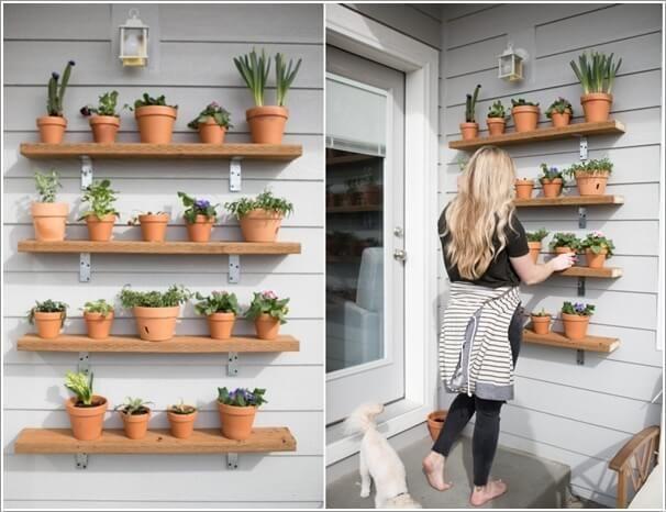 10 Wonderful Diy Outdoor Planter Shelf Ideas Diy Planters Outdoor Outdoor Planters Outdoor Shelves